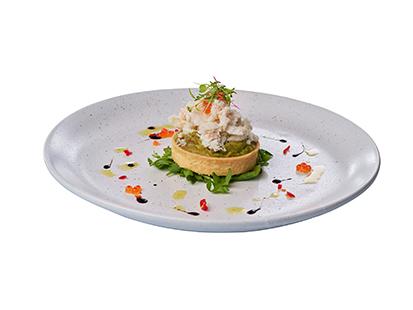 Crab & Avocado Tart
